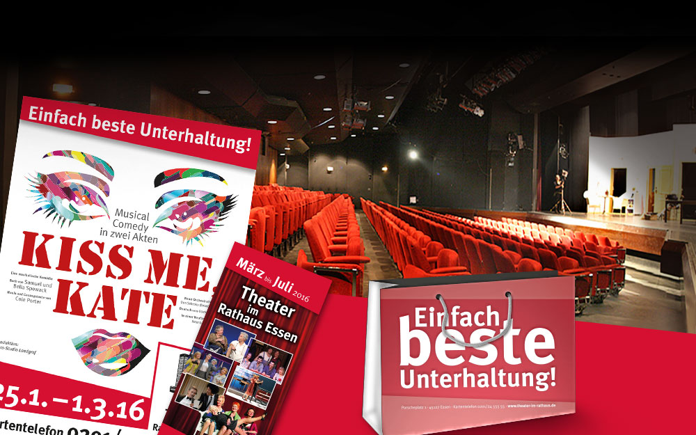 Theater im Rathaus – Grafisches Konzept für die Spielzeit 2015/2016