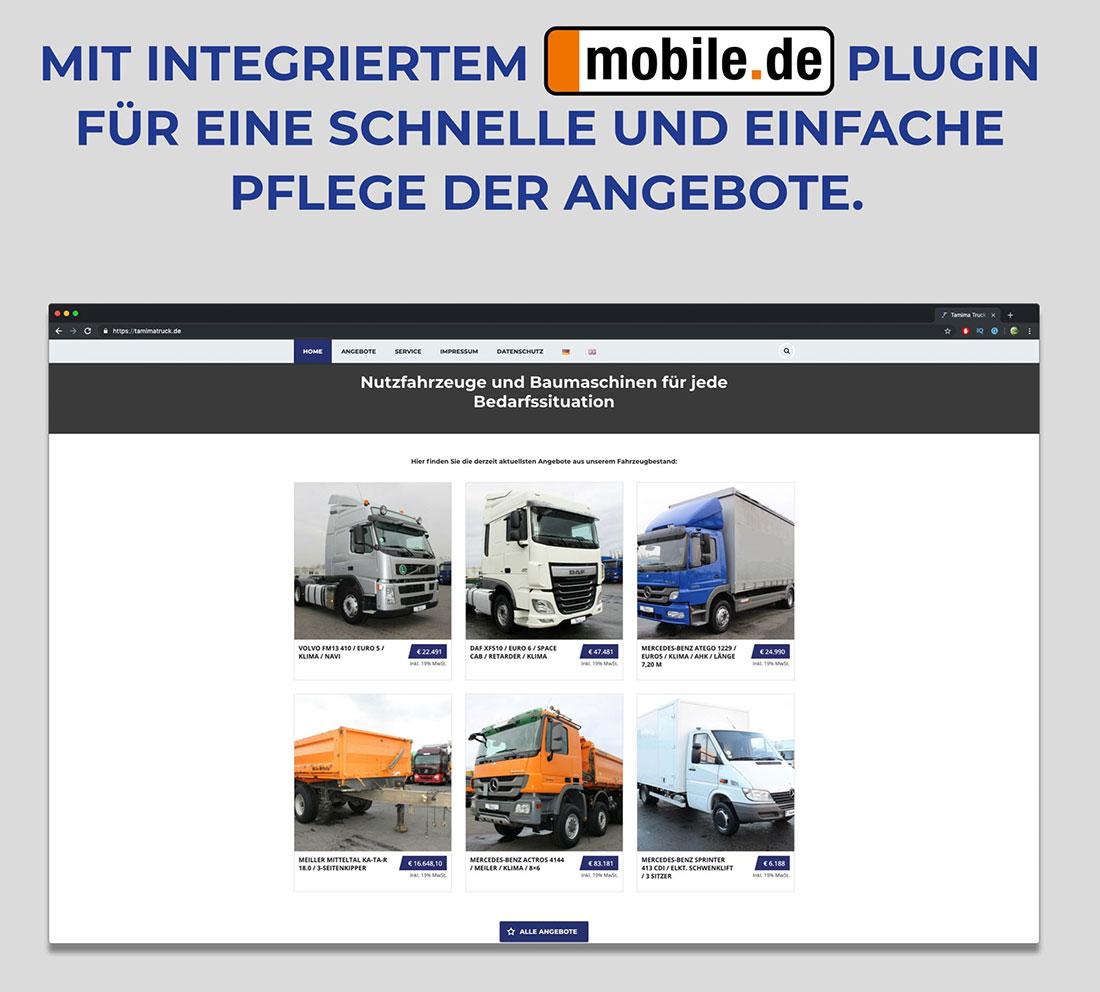 Tamima Truck Mobile-Plugin