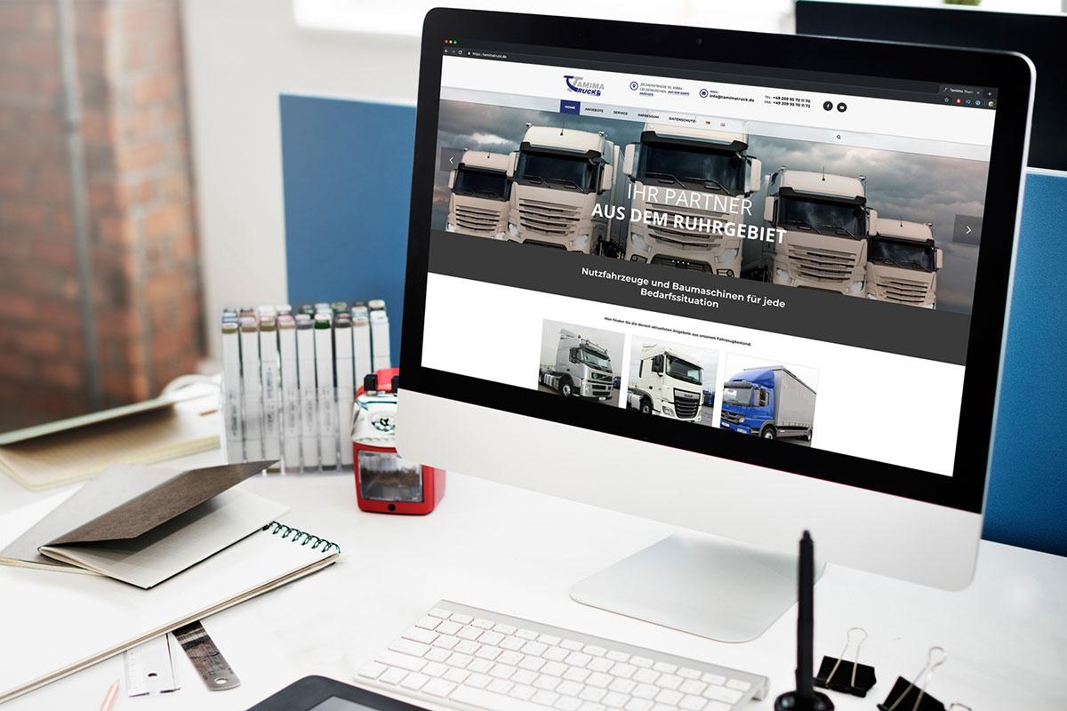 Tamima Truck Website