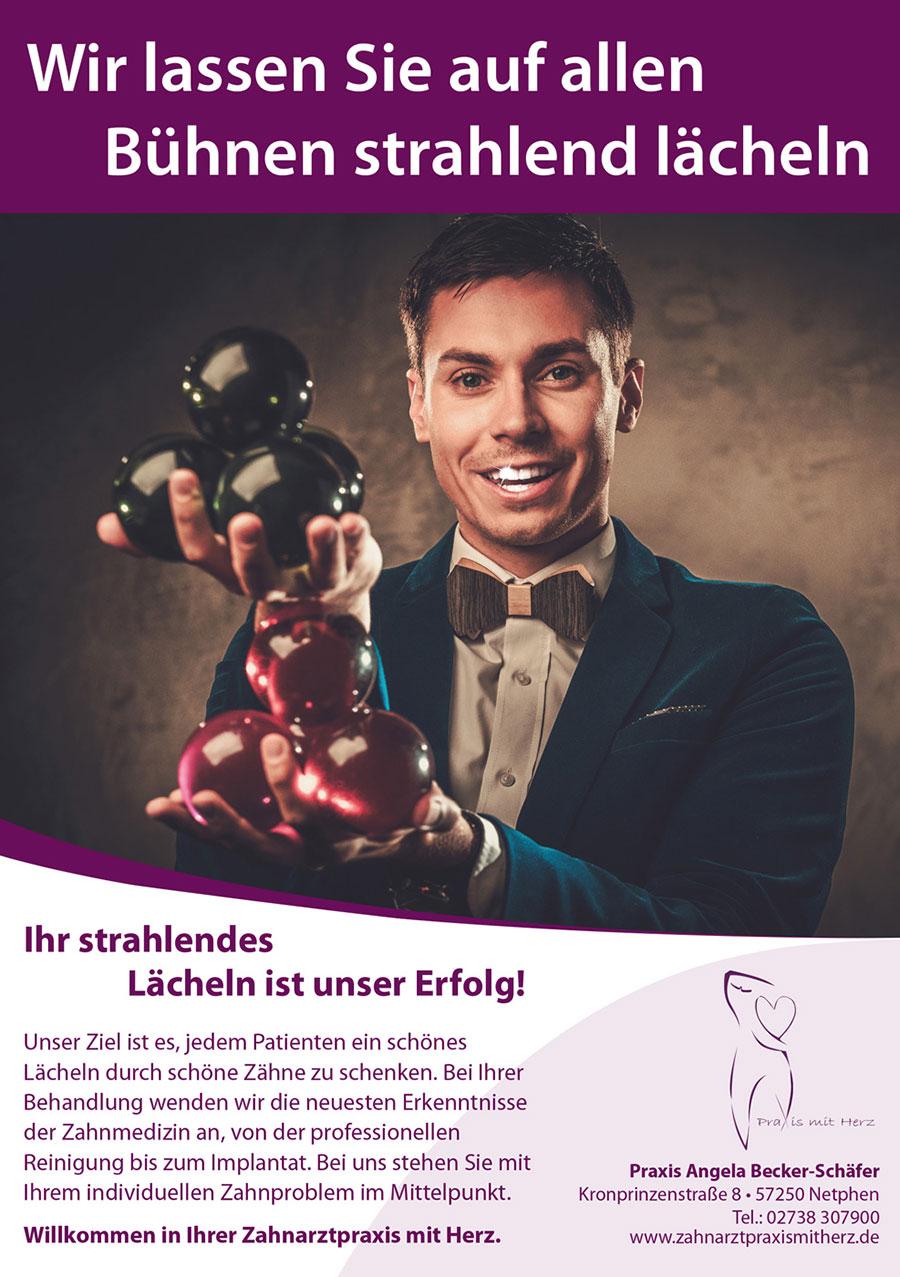 Zahnarztpraxis mit Herz - Becker - Anzeige